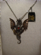 Alchemy Gothic pendant necklace in pewter Blast furnace behemoth.